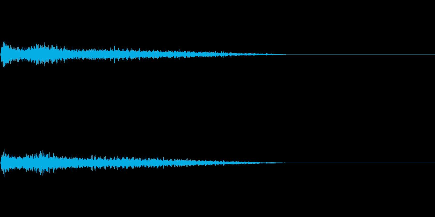 Dメジャー インパクト音 衝撃音の再生済みの波形