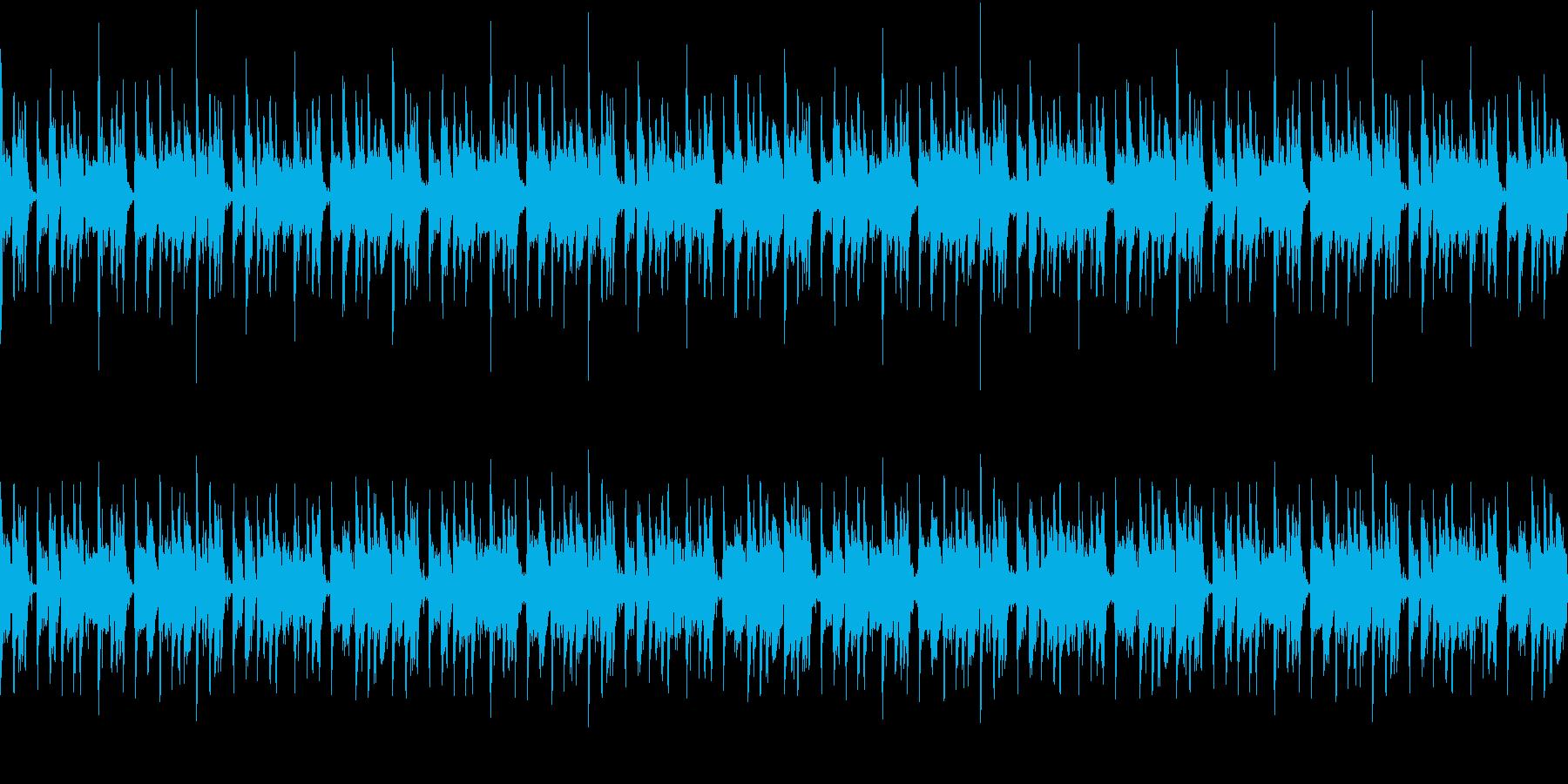 都会的なイメージのループBGMの再生済みの波形
