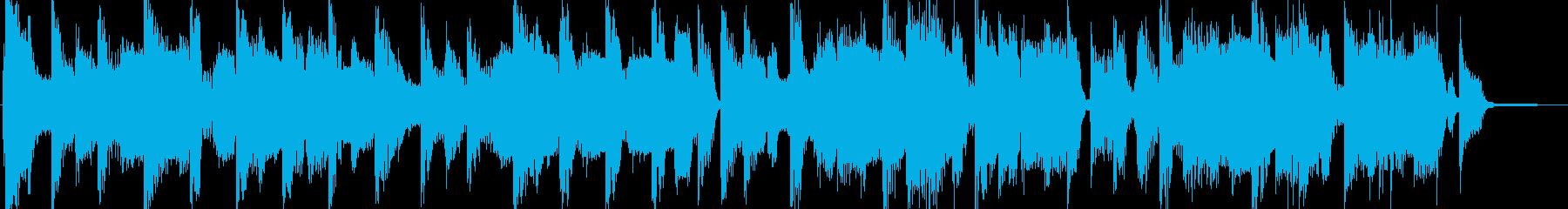軽快なスムースジャズ風ジングルの再生済みの波形