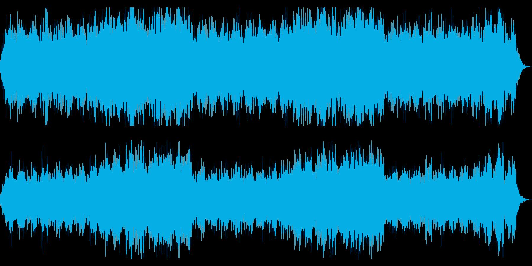 恐怖を演出 ホラー向けシネマチックBGMの再生済みの波形
