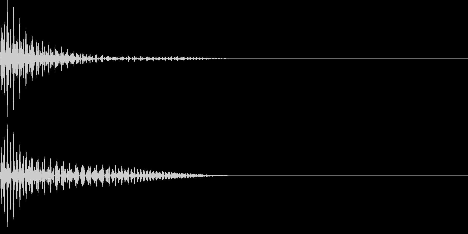 ドーン(ボタンシンプル)の未再生の波形