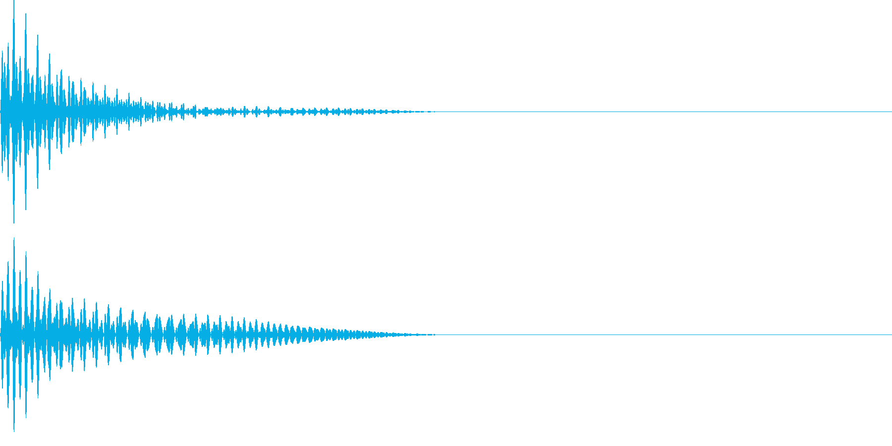 ドーン(ボタンシンプル)の再生済みの波形