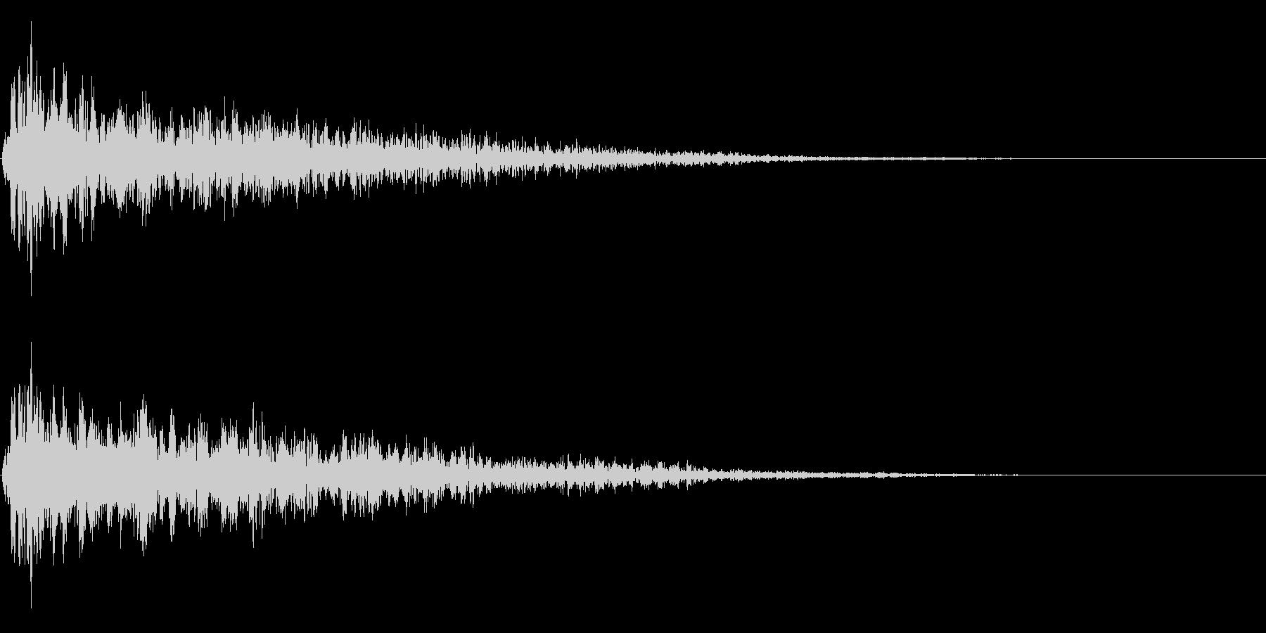 ゴージャスなキャンセル音の未再生の波形