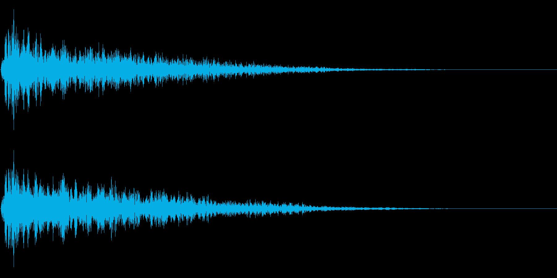 ゴージャスなキャンセル音の再生済みの波形
