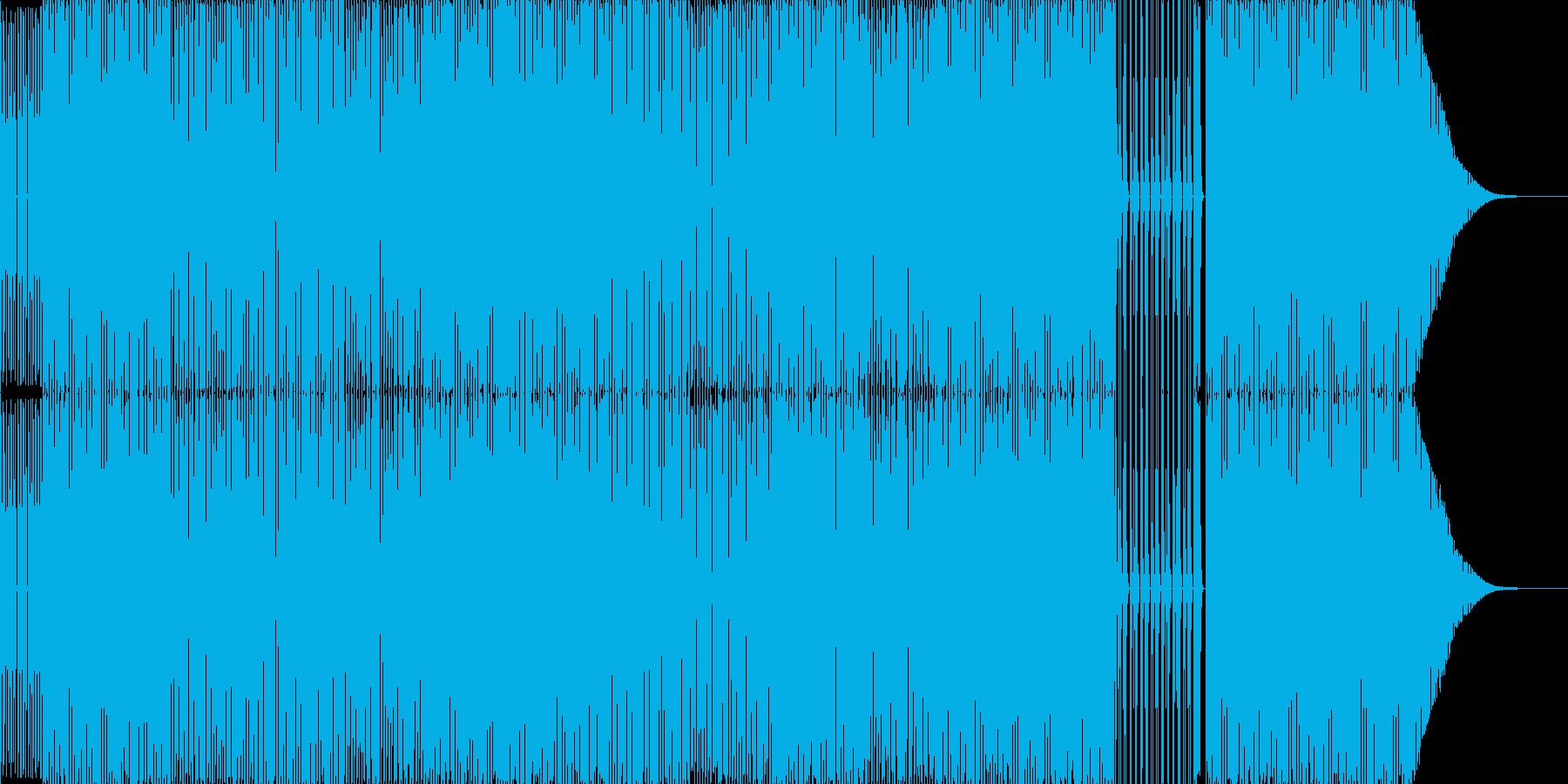 太いBass切れの良いメロラインBeatの再生済みの波形