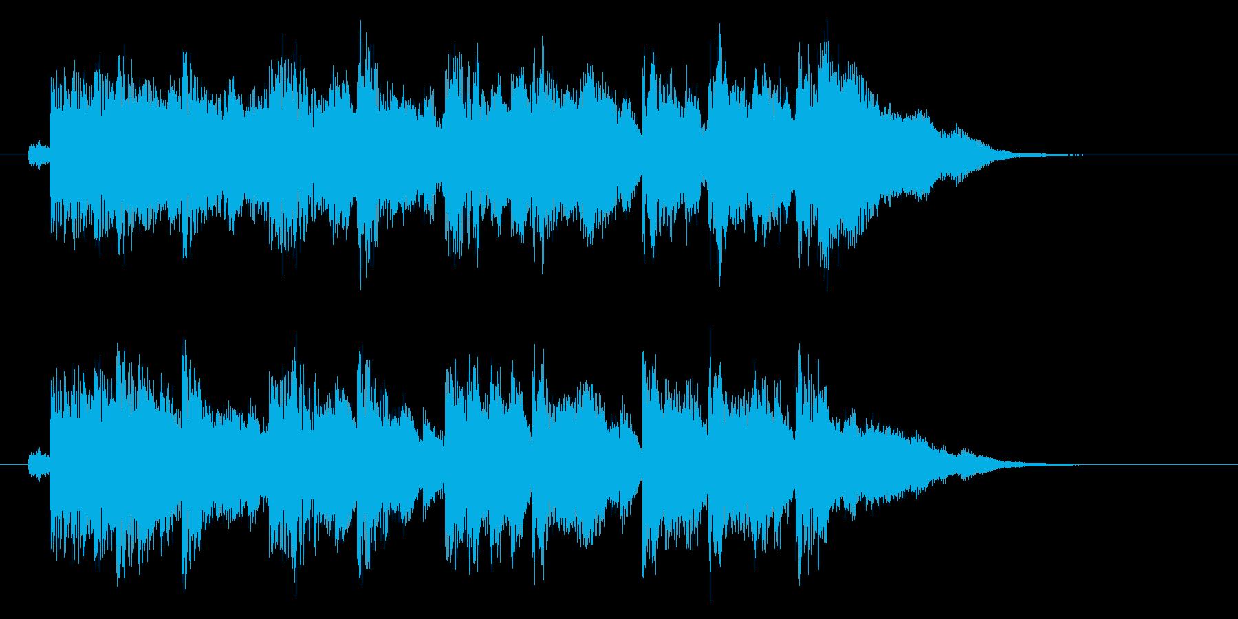 きらびやかなリラクゼーション音楽の再生済みの波形