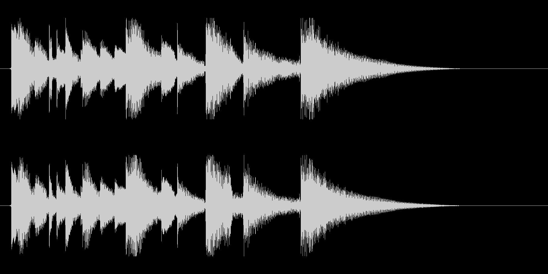 ナイロンギターのアイキャッチの未再生の波形