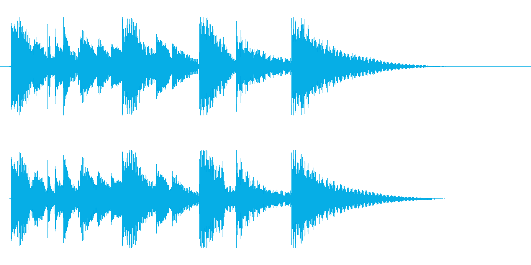 ナイロンギターのアイキャッチの再生済みの波形
