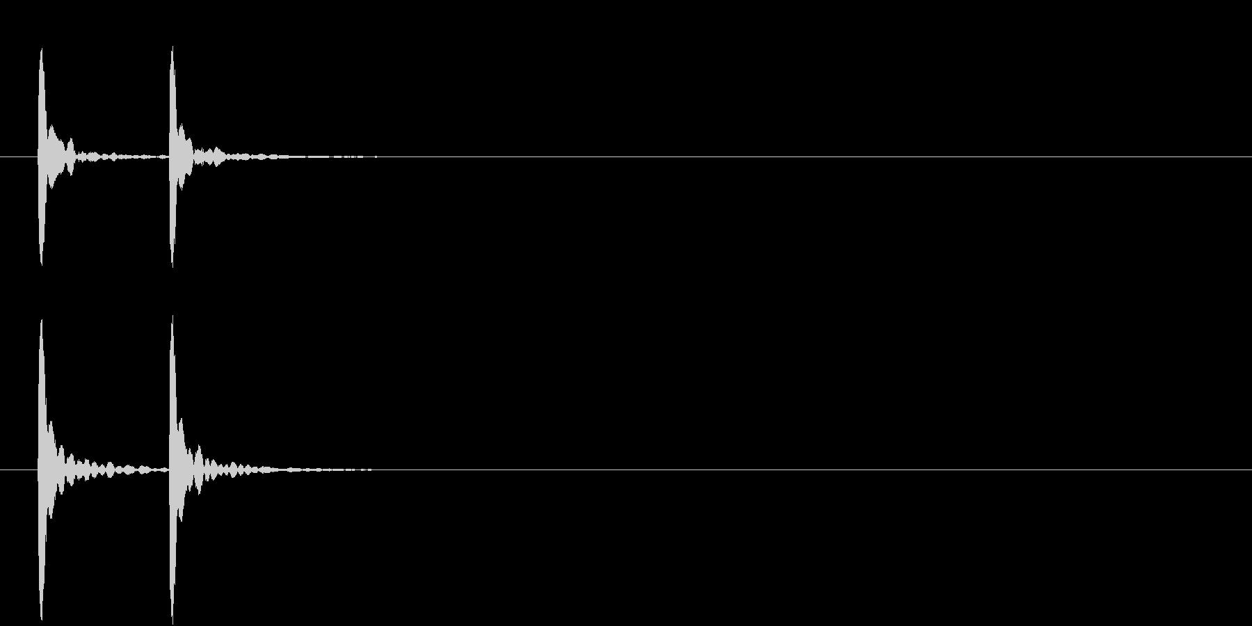 コテッ(バラエティ効果音)の未再生の波形