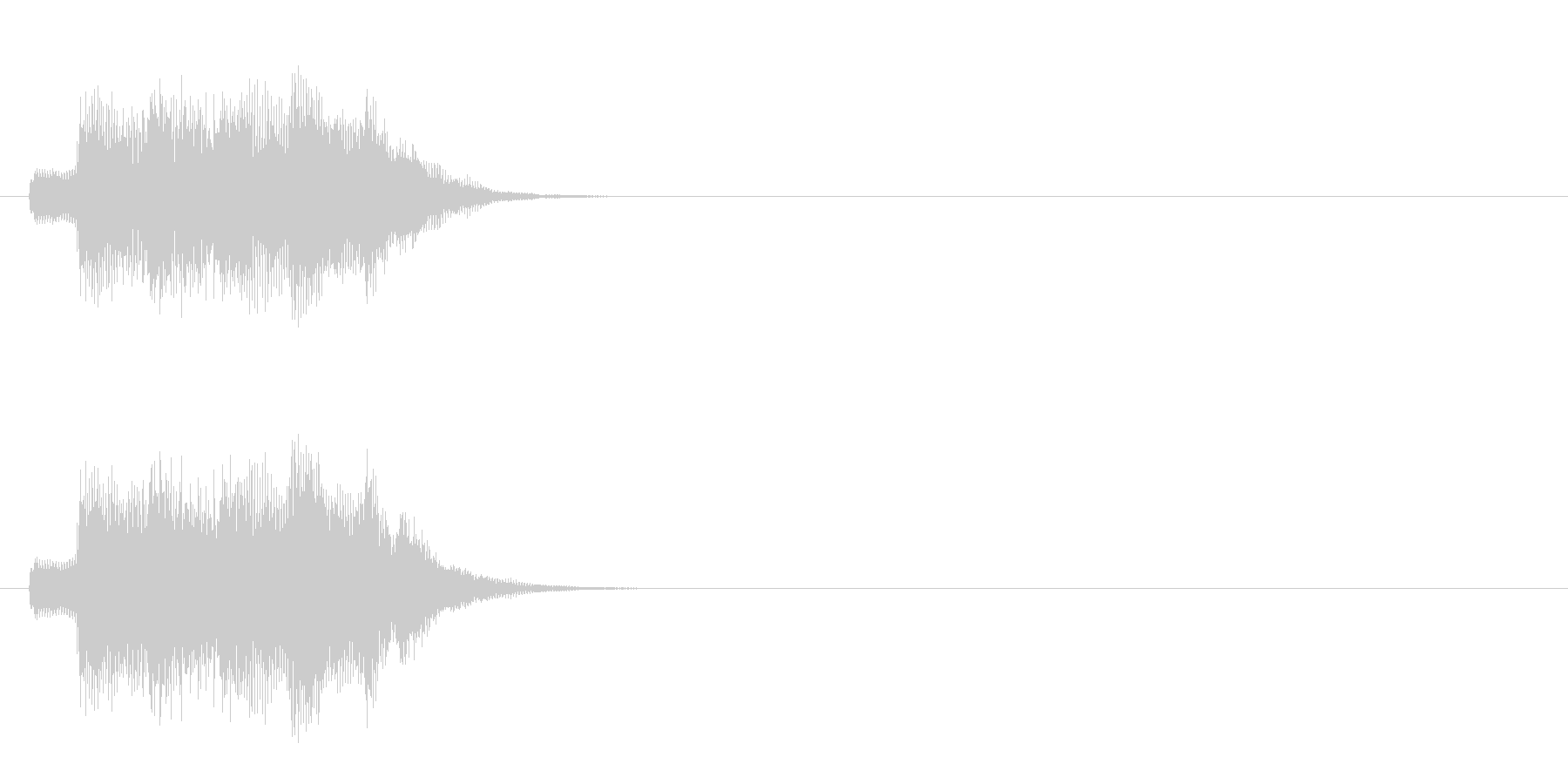 ジングル/アタック(爽やかポップ)の未再生の波形
