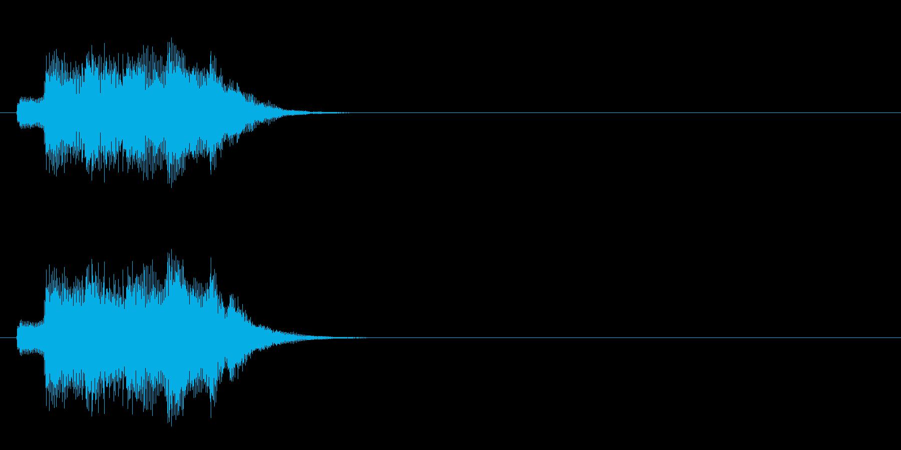 ジングル/アタック(爽やかポップ)の再生済みの波形