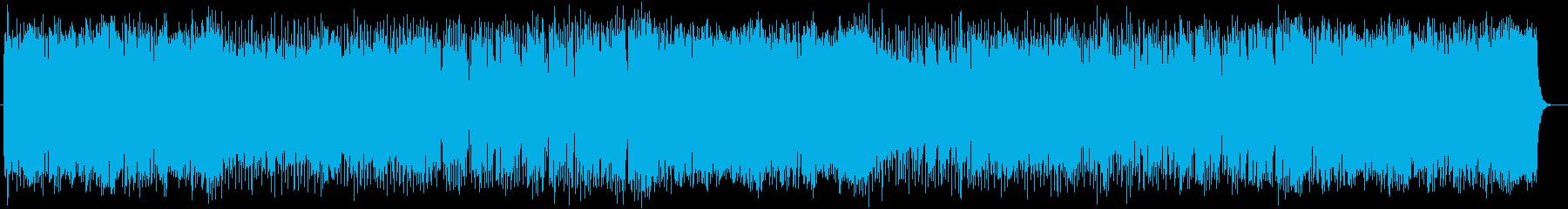 パワフルで活気のあるミュージックの再生済みの波形
