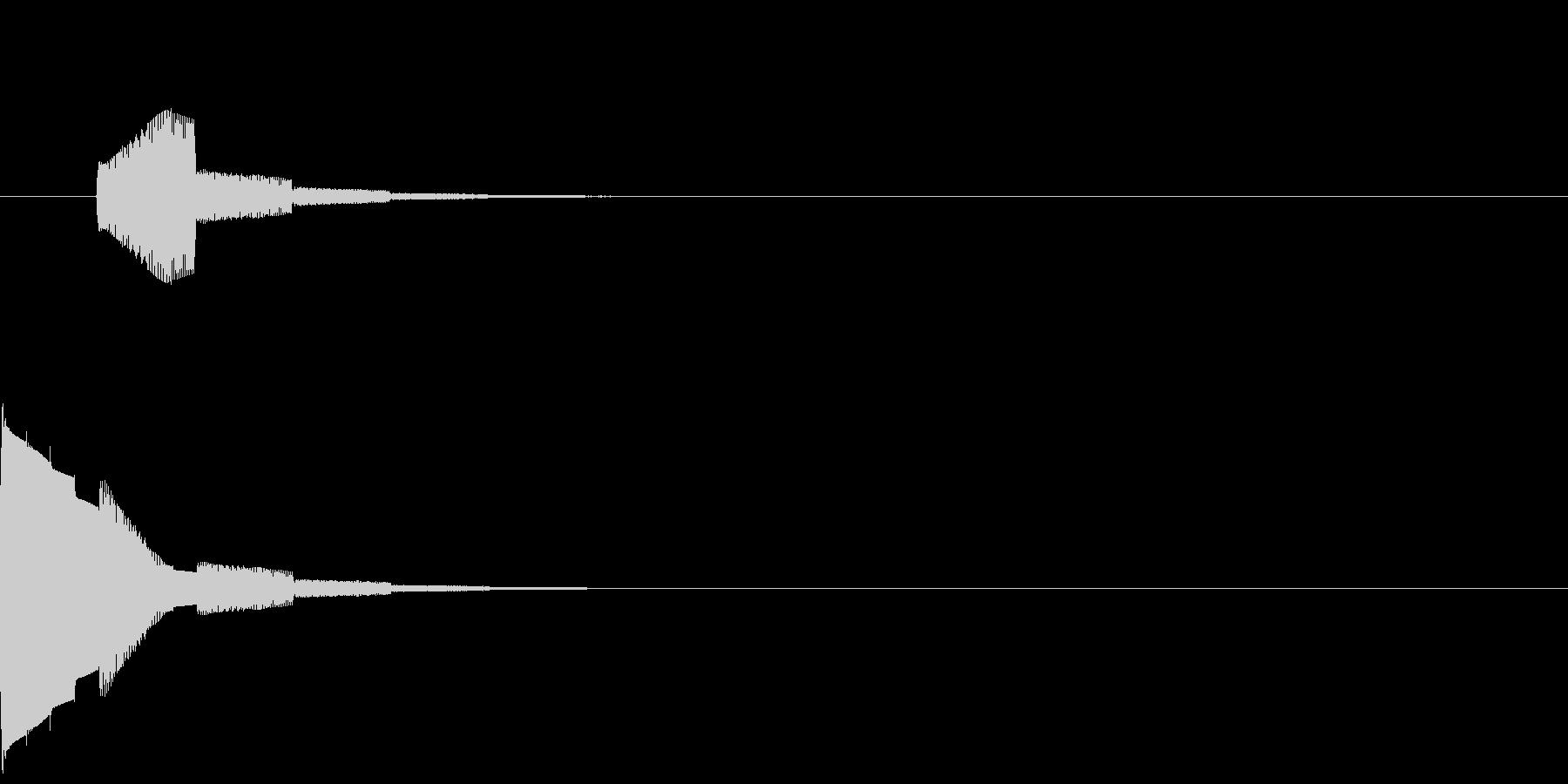 ジャンプ音04(高音)の未再生の波形