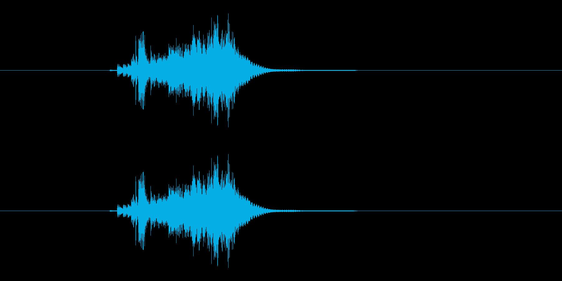 シャキーン(抜刀の音)の再生済みの波形