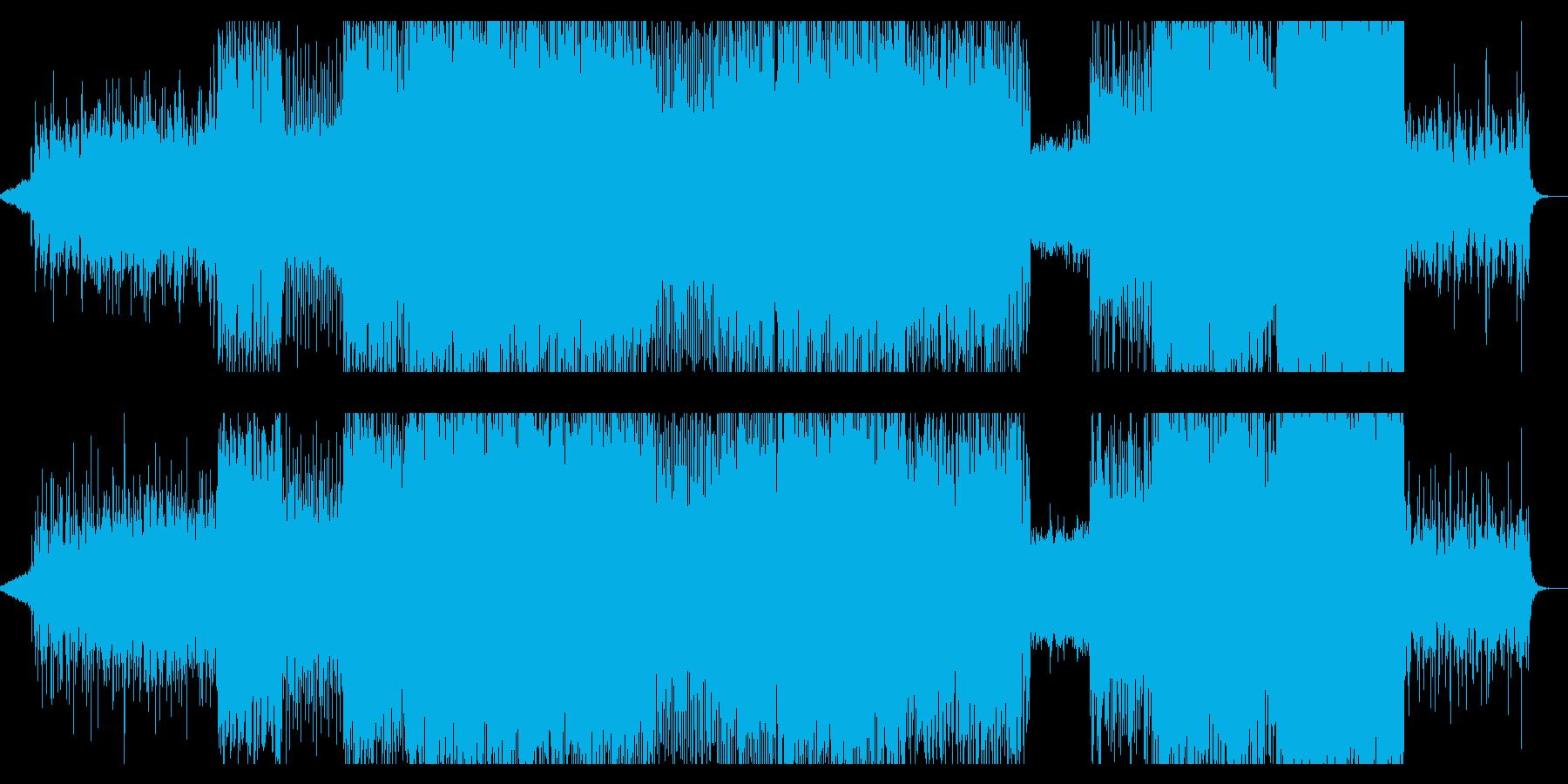 爽やかなプログレッシヴ・トランスの再生済みの波形