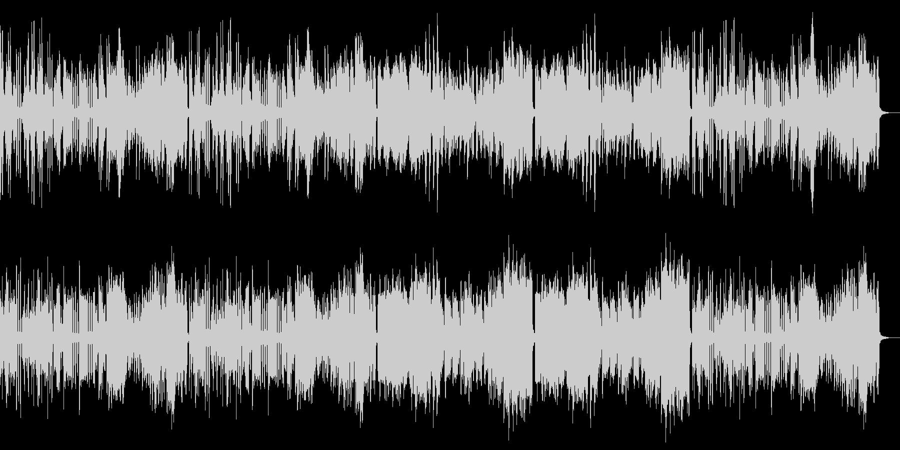 ピアノとフルート室内楽風ほのぼのポップスの未再生の波形