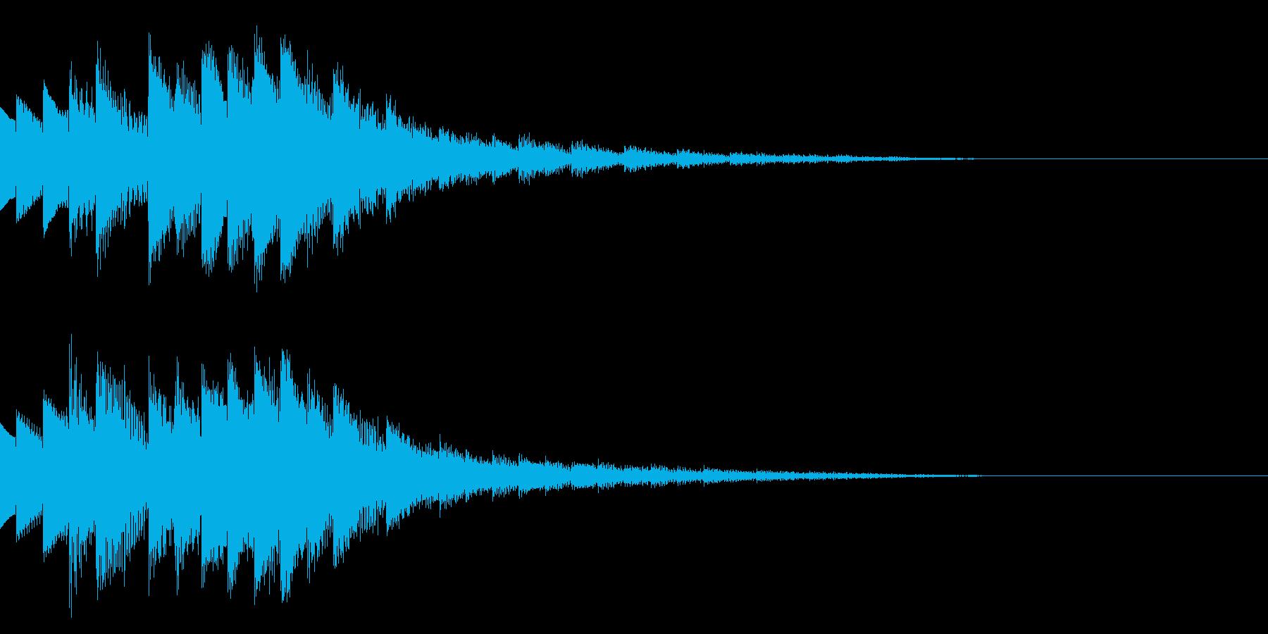 注目/ポイント/場面転換/手順紹介の再生済みの波形