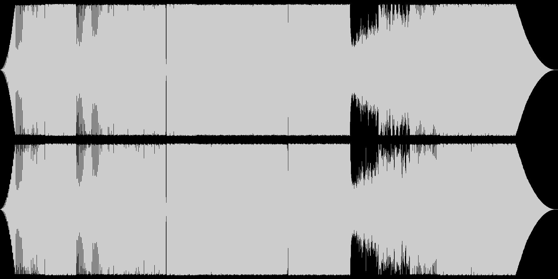 ダンサブルなロックギターインストの未再生の波形