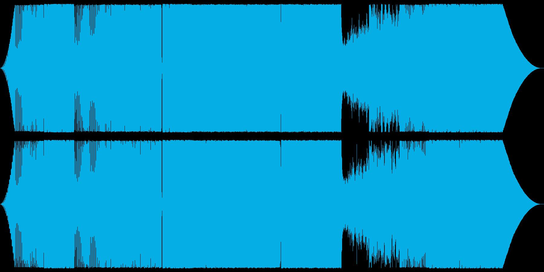 ダンサブルなロックギターインストの再生済みの波形