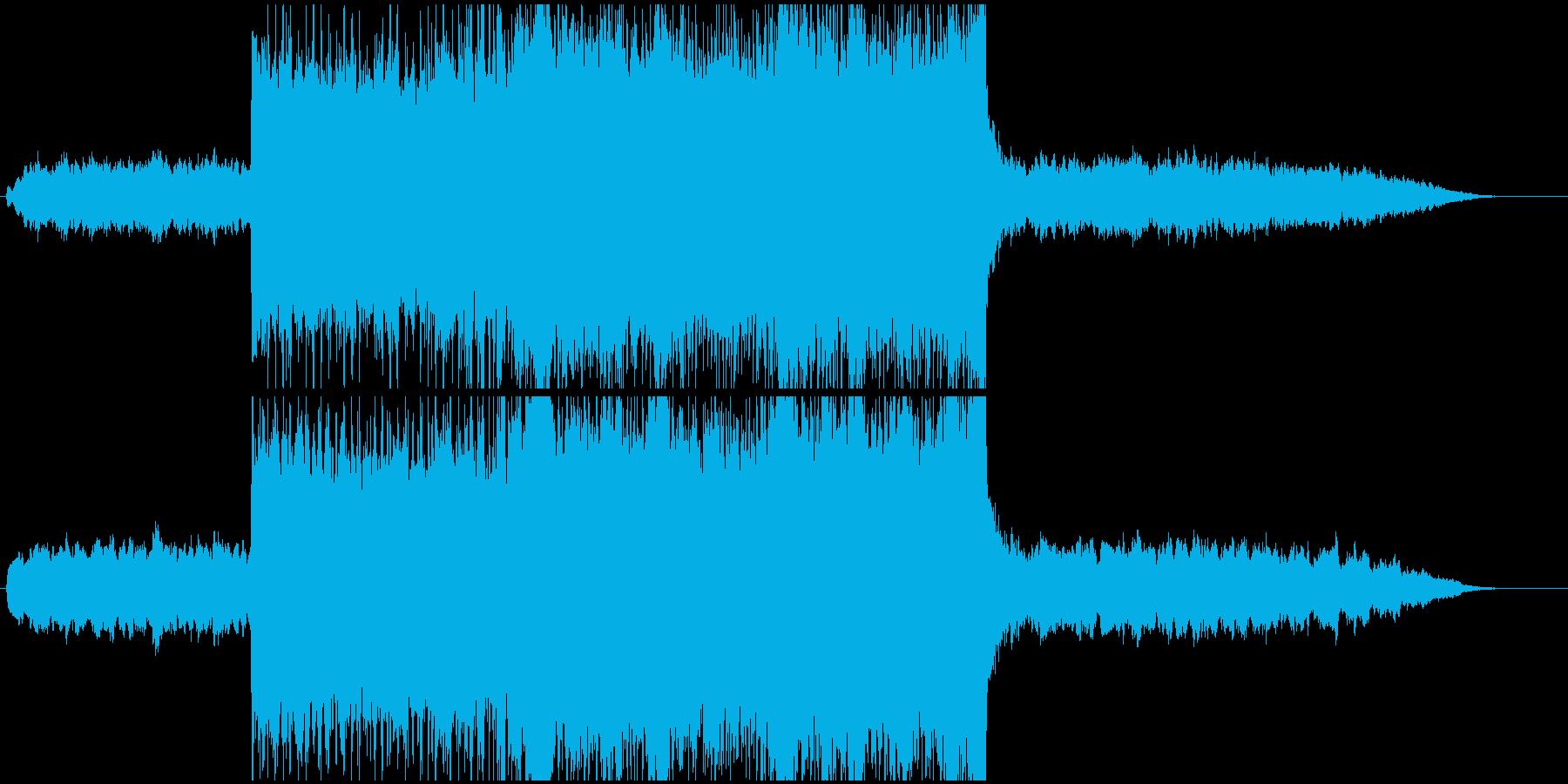 高揚感のあるエレクトロなバンドサウンドの再生済みの波形