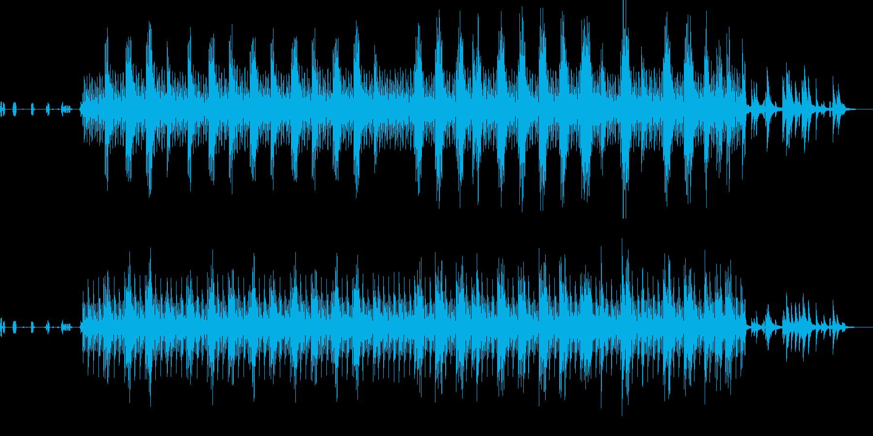 鳥のさえずりとピアノが響くアンビエントの再生済みの波形