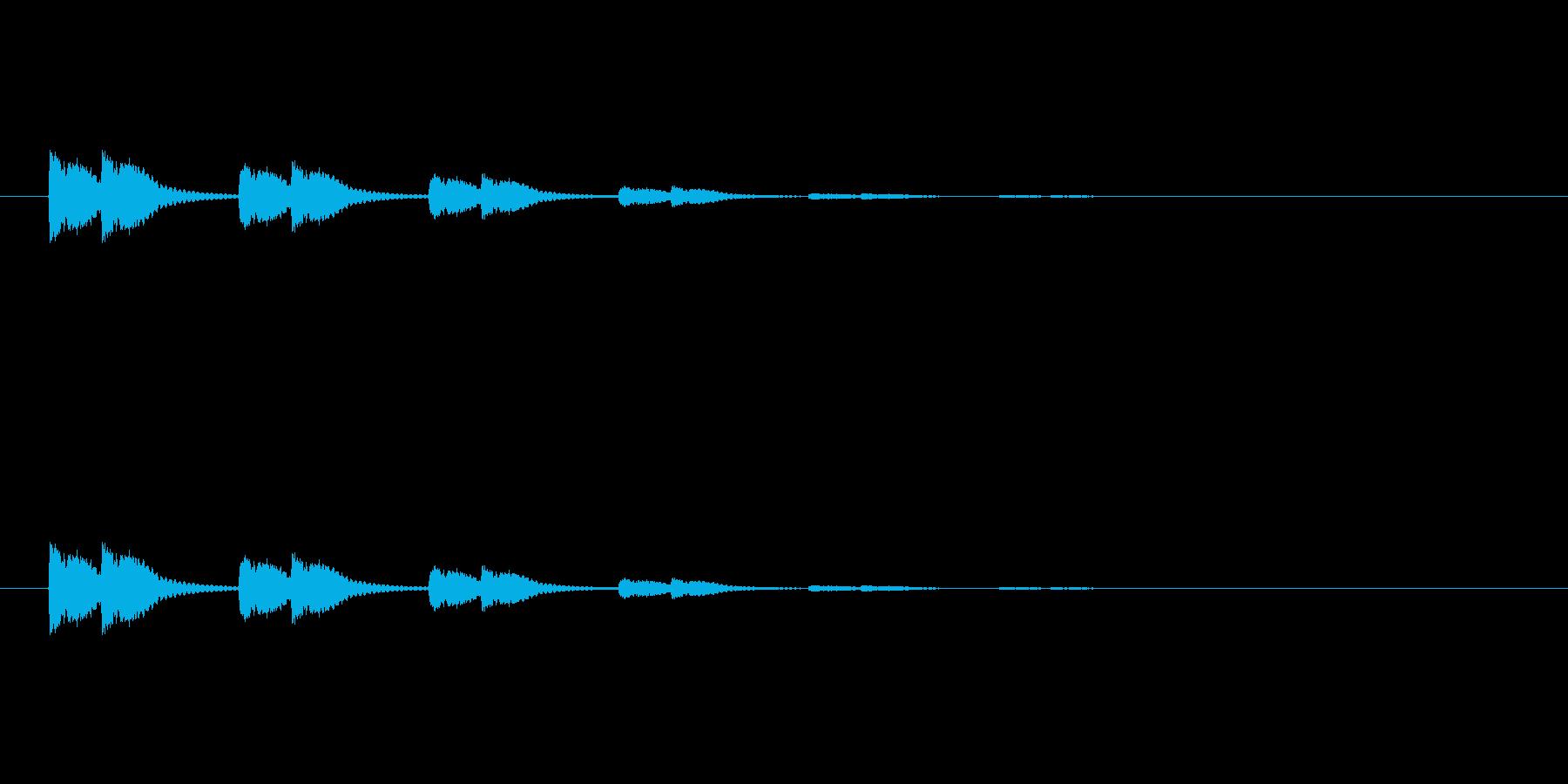 【びっくり07-4】の再生済みの波形