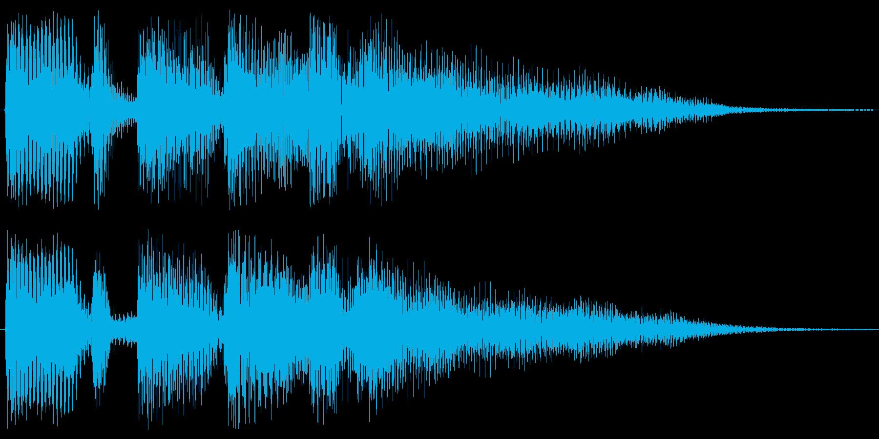 アコギの穏やかな音ですの再生済みの波形