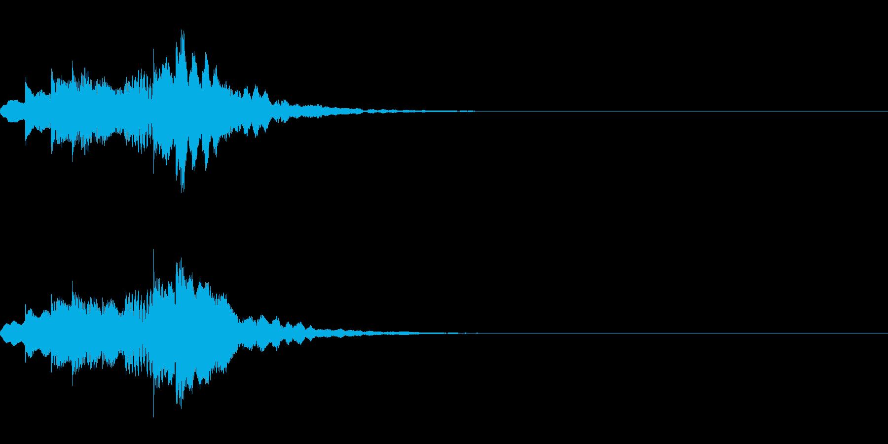 注意喚起を促す効果音・メジャー系の再生済みの波形