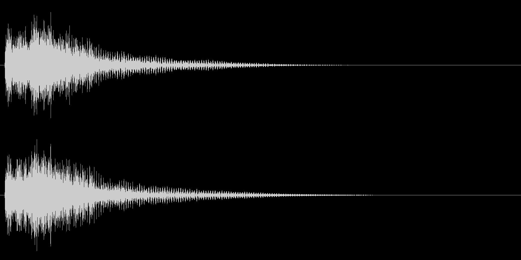 ジャジャン/クイズ/出題/ヒットの未再生の波形