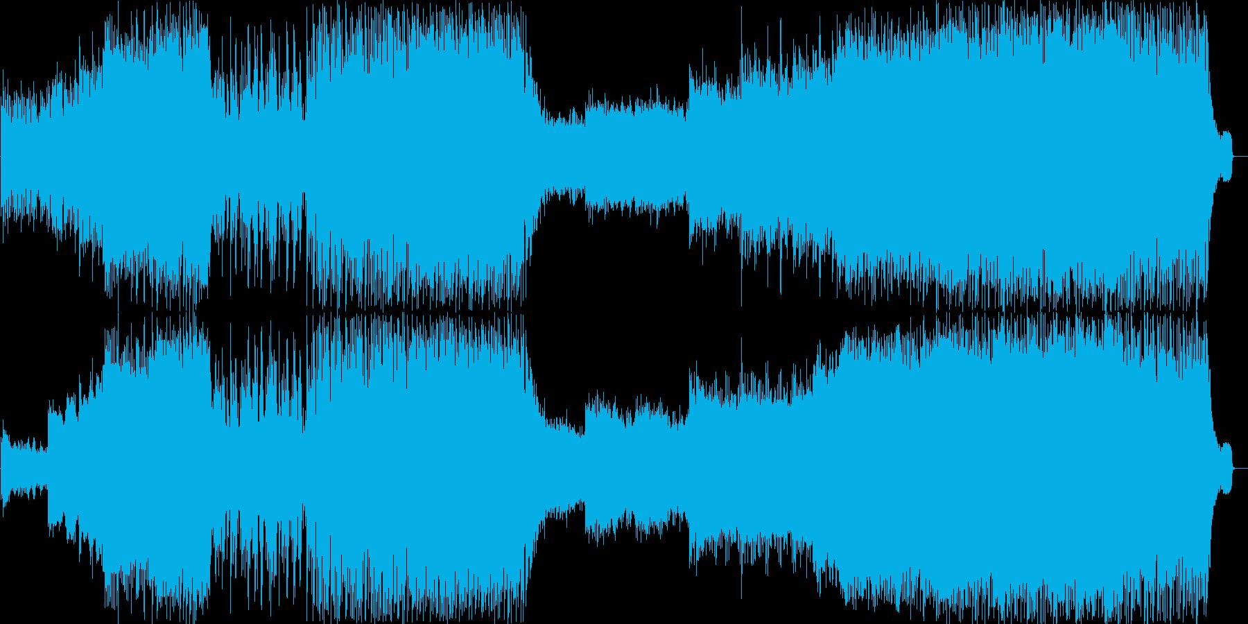 穏やかでおしゃれなピコピコ曲の再生済みの波形