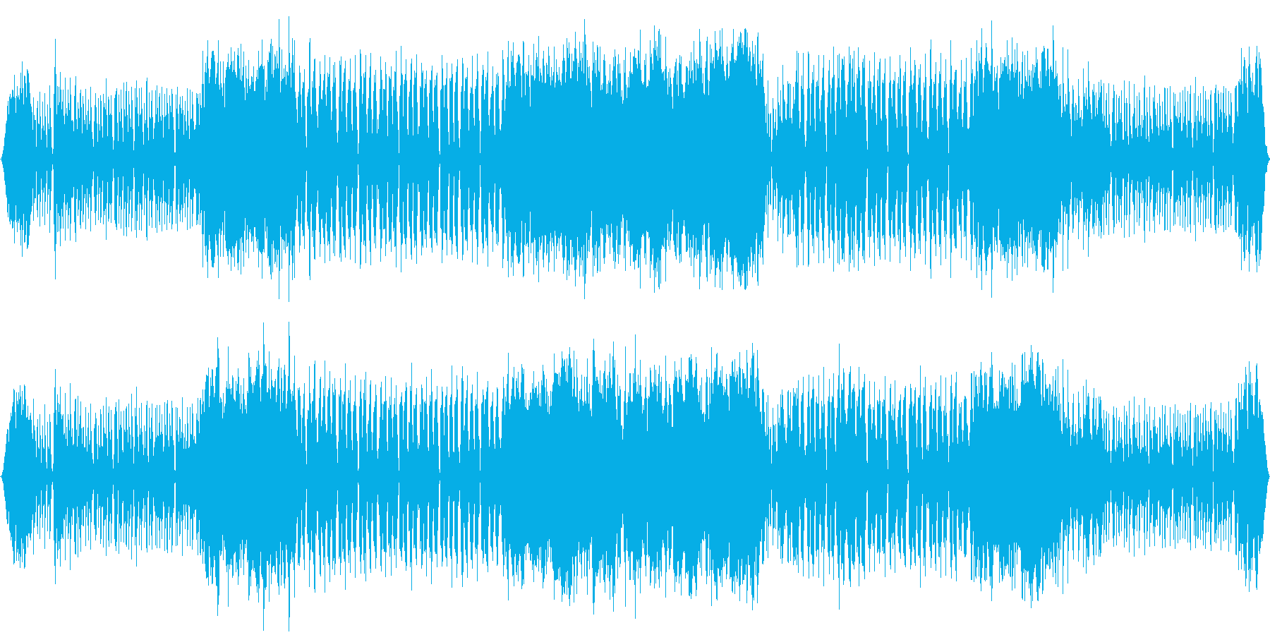 女声ボーカル 英詞 エレクトロニカの再生済みの波形