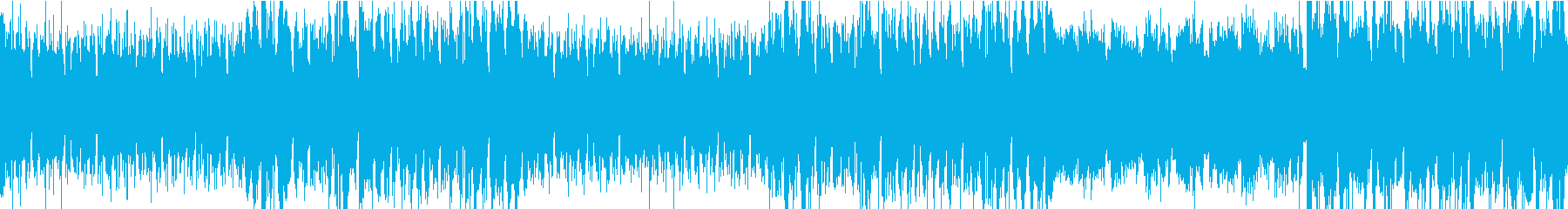 疾走感のある電子音楽の再生済みの波形