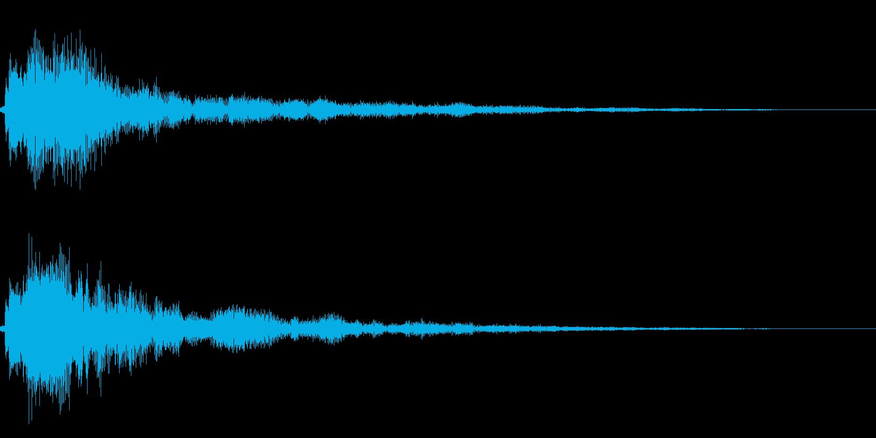 シンプルな決定/ボタン/クリック音34bの再生済みの波形
