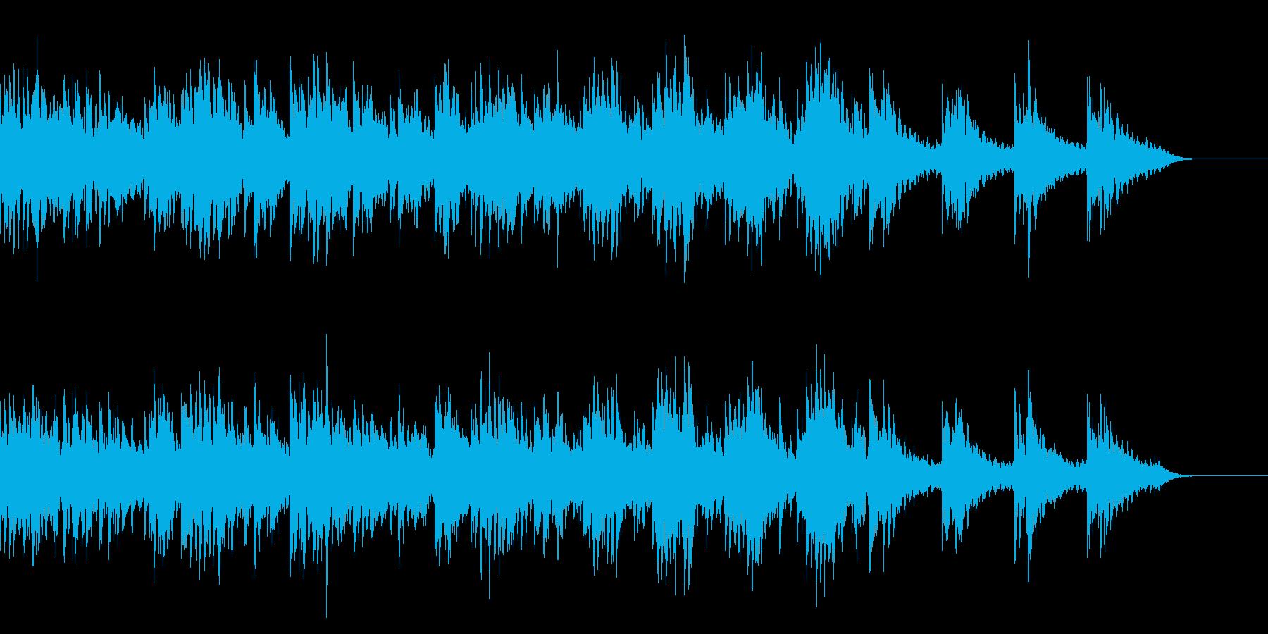 黄昏時の海辺のイメージのBGMの再生済みの波形