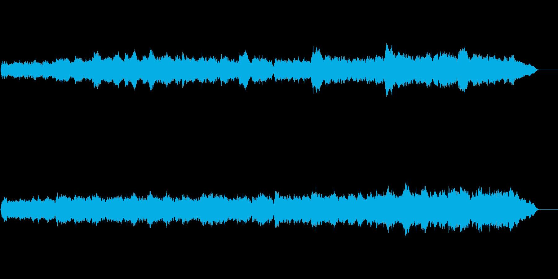 パイプオルガンの曲、クリスマスのイメージの再生済みの波形