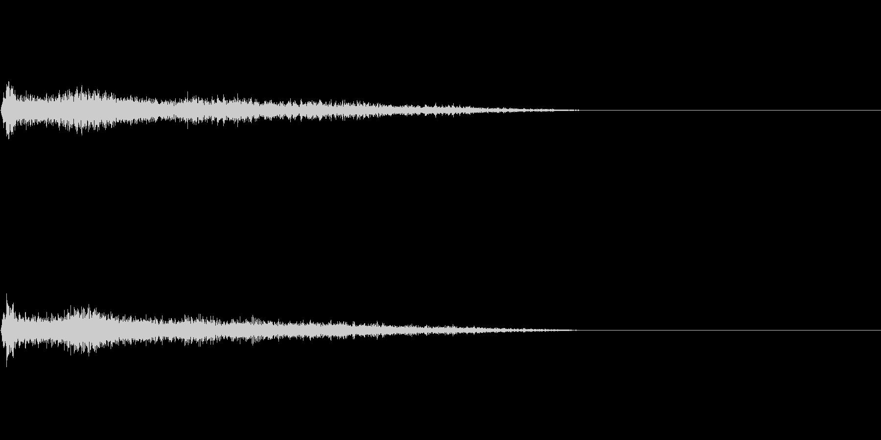 F♯メジャー インパクト音 衝撃音の未再生の波形