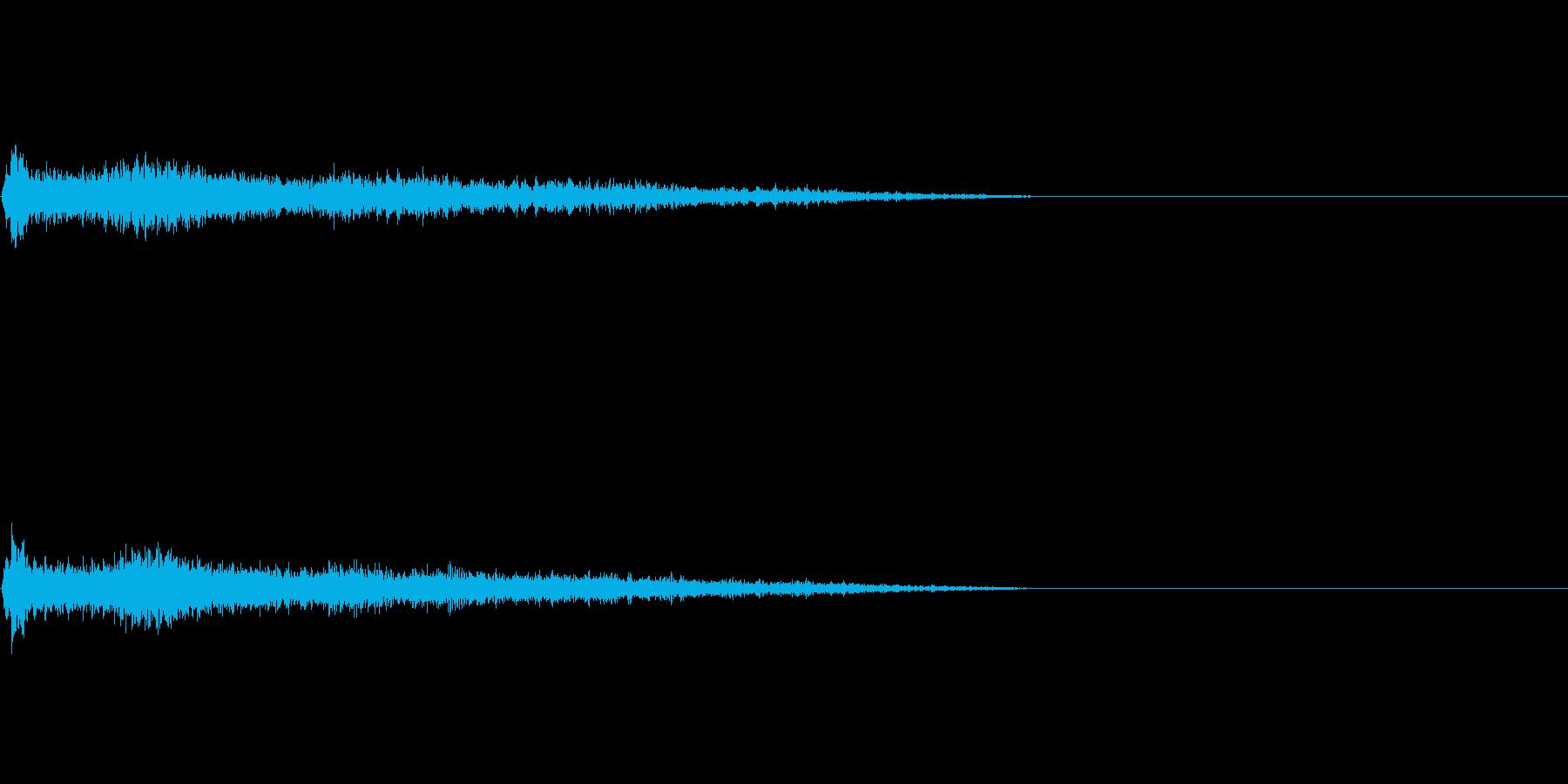 F♯メジャー インパクト音 衝撃音の再生済みの波形