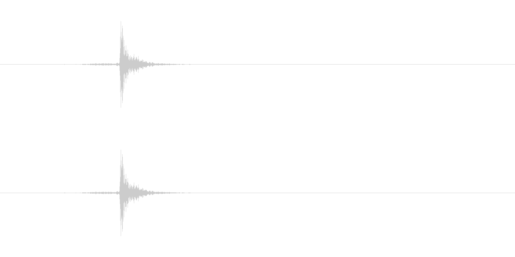 【本03-8(閉じる)】の未再生の波形
