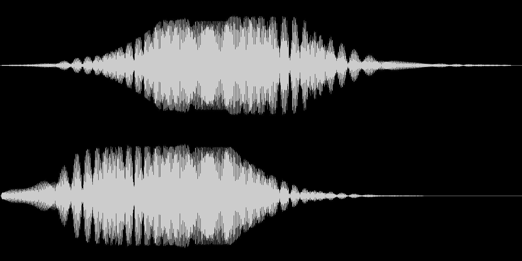 ヒュ〜ヒユ〜(宇宙船の通過する音)の未再生の波形