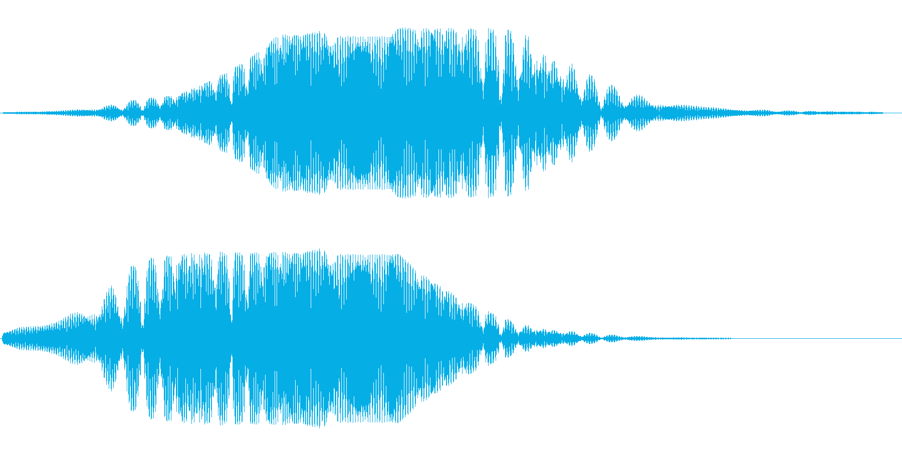 ヒュ〜ヒユ〜(宇宙船の通過する音)の再生済みの波形