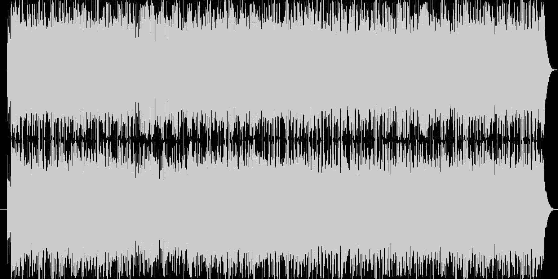 速いテンポのロック系サウンドです。の未再生の波形