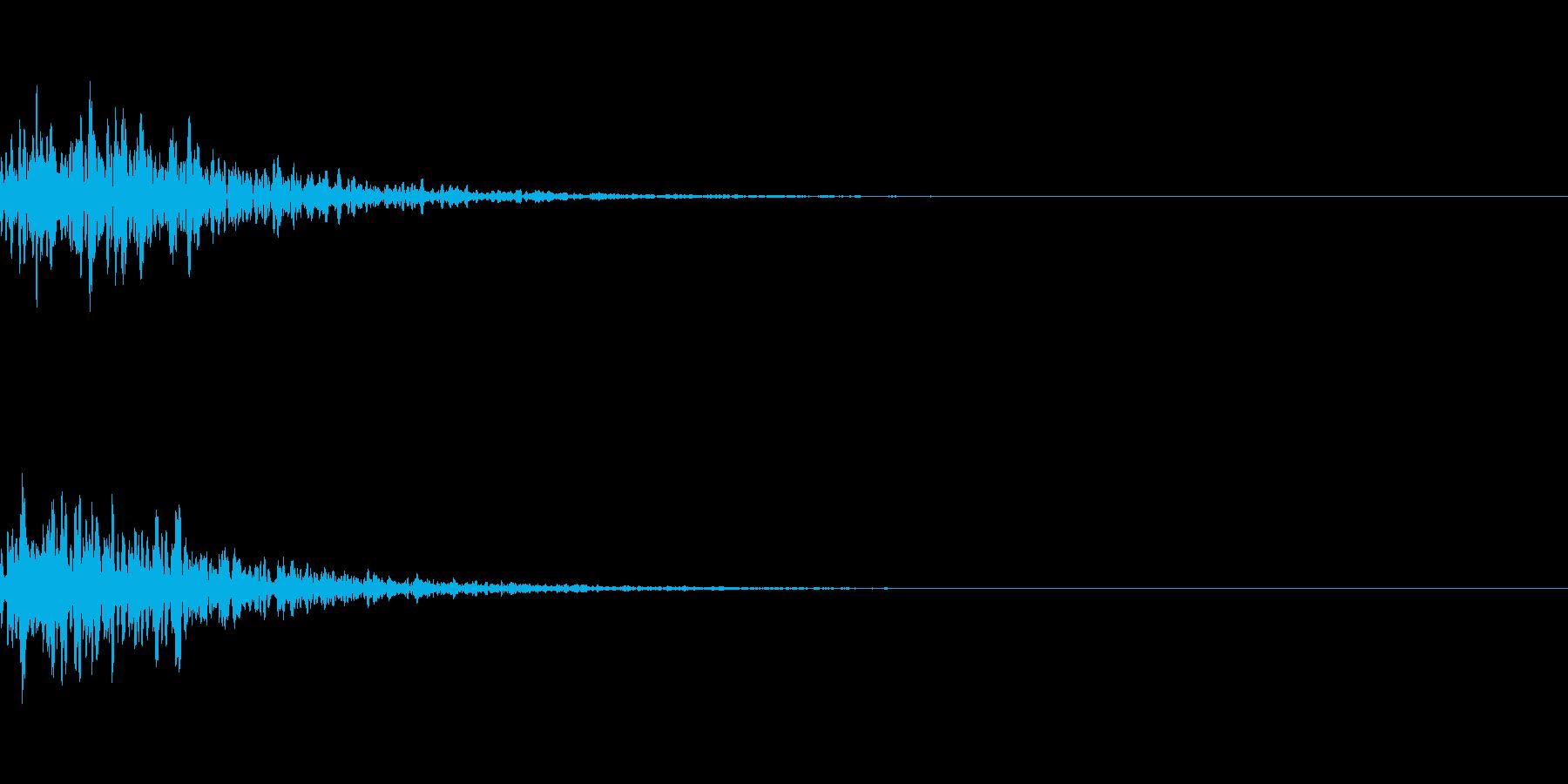 リパーブのかかったポン:楽曲のアクセントの再生済みの波形