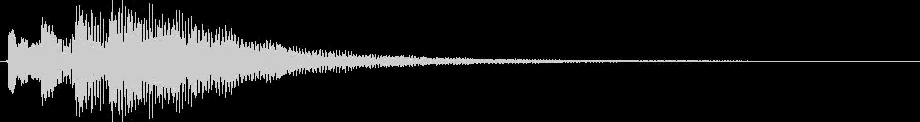 ポロリローン(マリンバ系チャイム)の未再生の波形