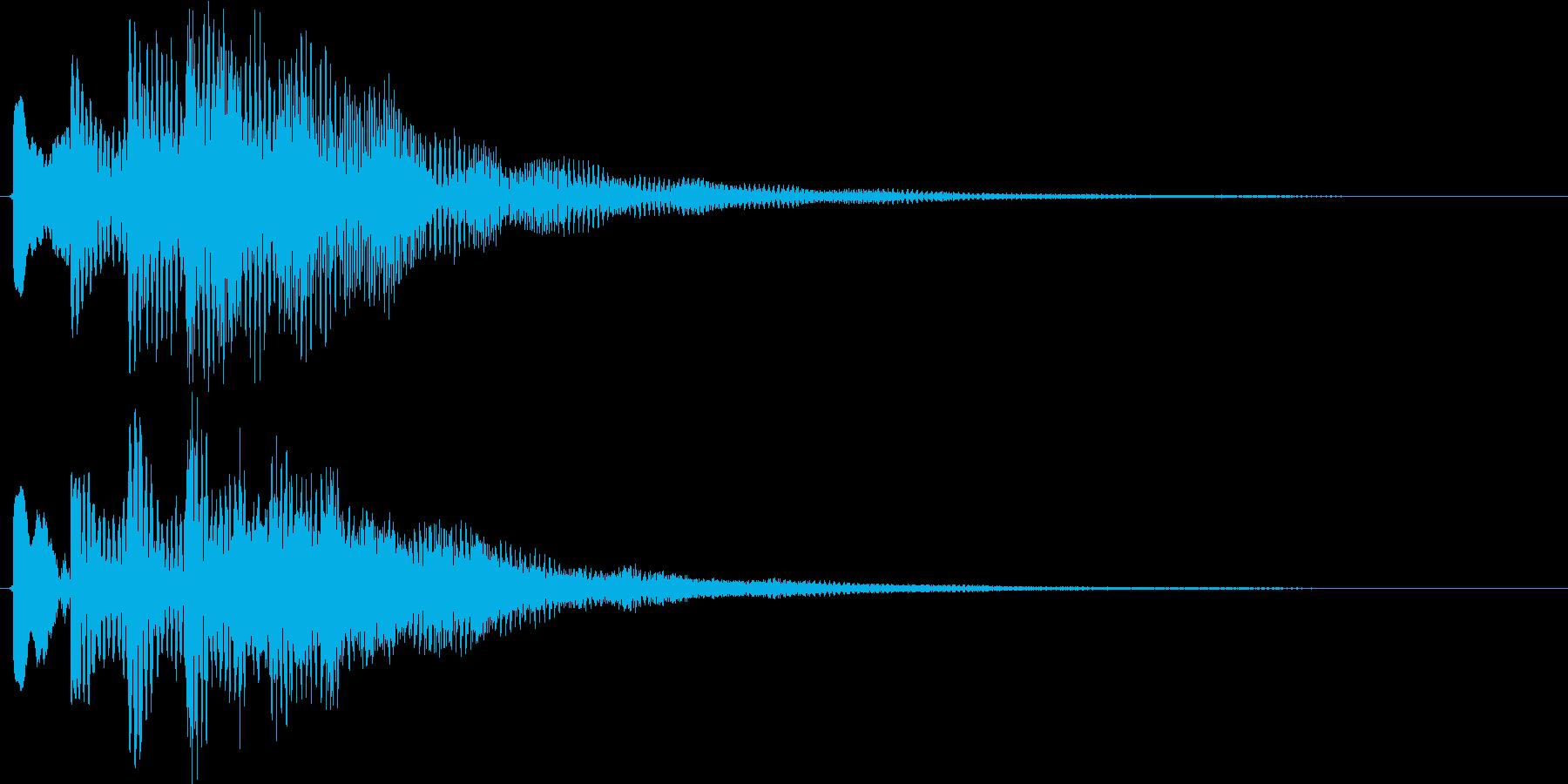 ポロリローン(マリンバ系チャイム)の再生済みの波形