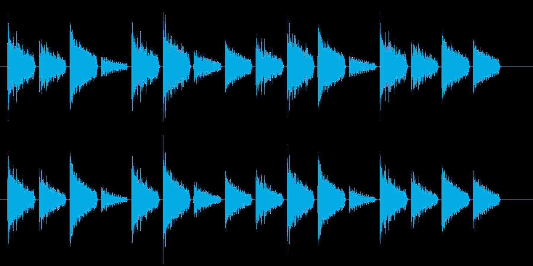 危険を知らせるアラート音(警戒度:高)の再生済みの波形