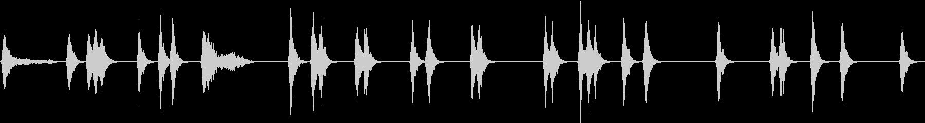 犬が吠える夜(ワオーンと遠吠え)の未再生の波形