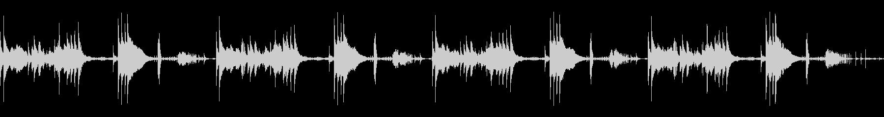 ほのぼのしたアコースティック楽曲の未再生の波形
