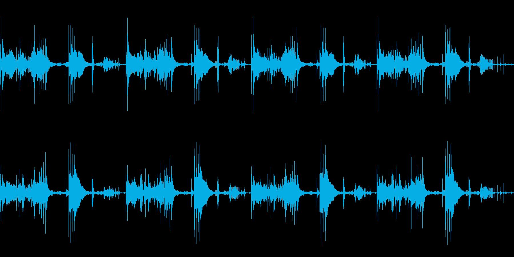 ほのぼのしたアコースティック楽曲の再生済みの波形