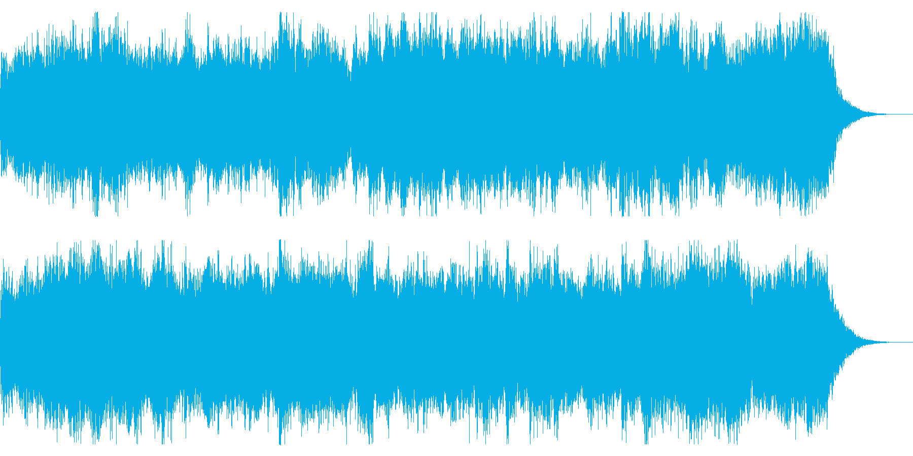 恐怖感を演出するミステリアスなBGMの再生済みの波形