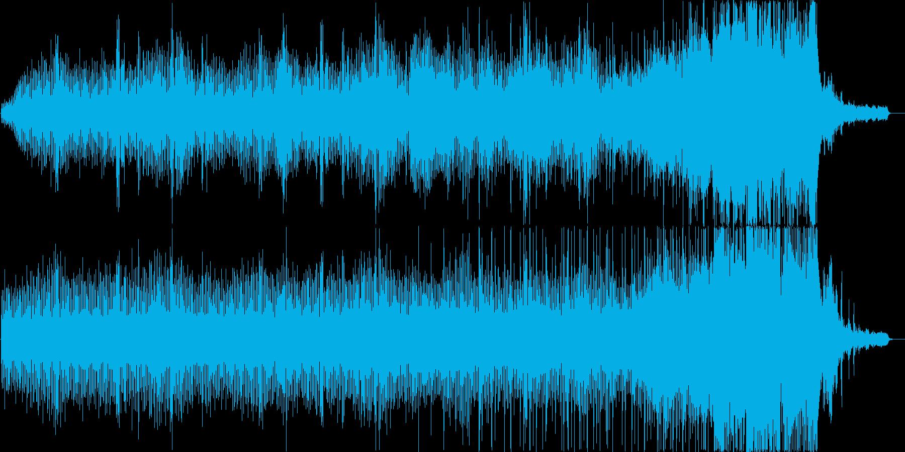 緊迫感のあるBGMの再生済みの波形